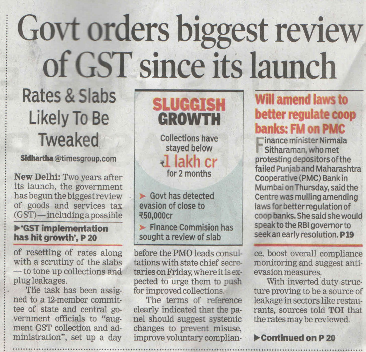 Govt. orders biggest review of GST since its launch