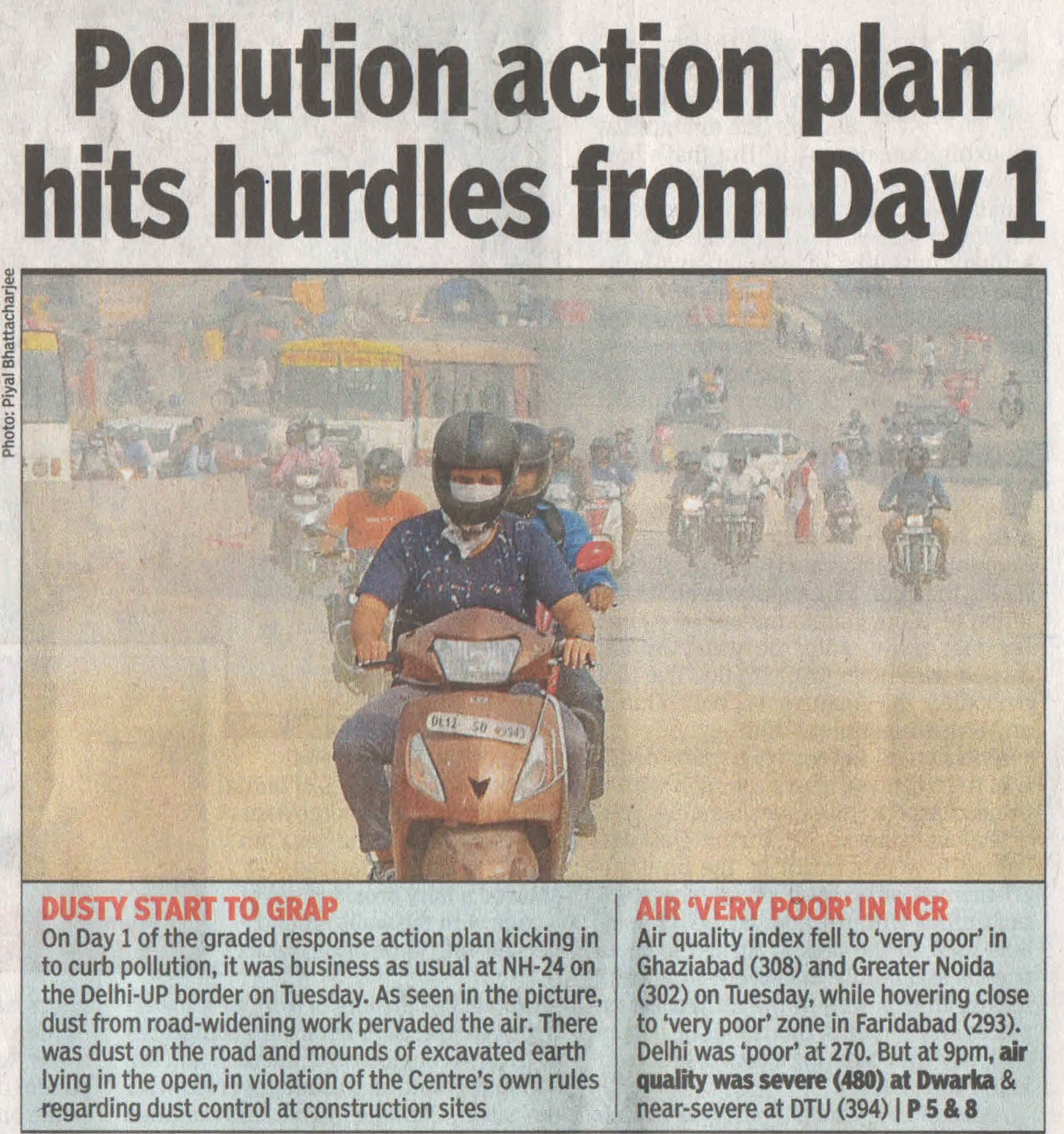 Pollution action plan hits hurdles from Day 1