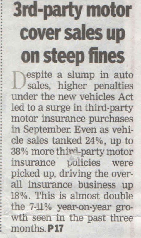 3rd Party motor cover sales up on steep fines