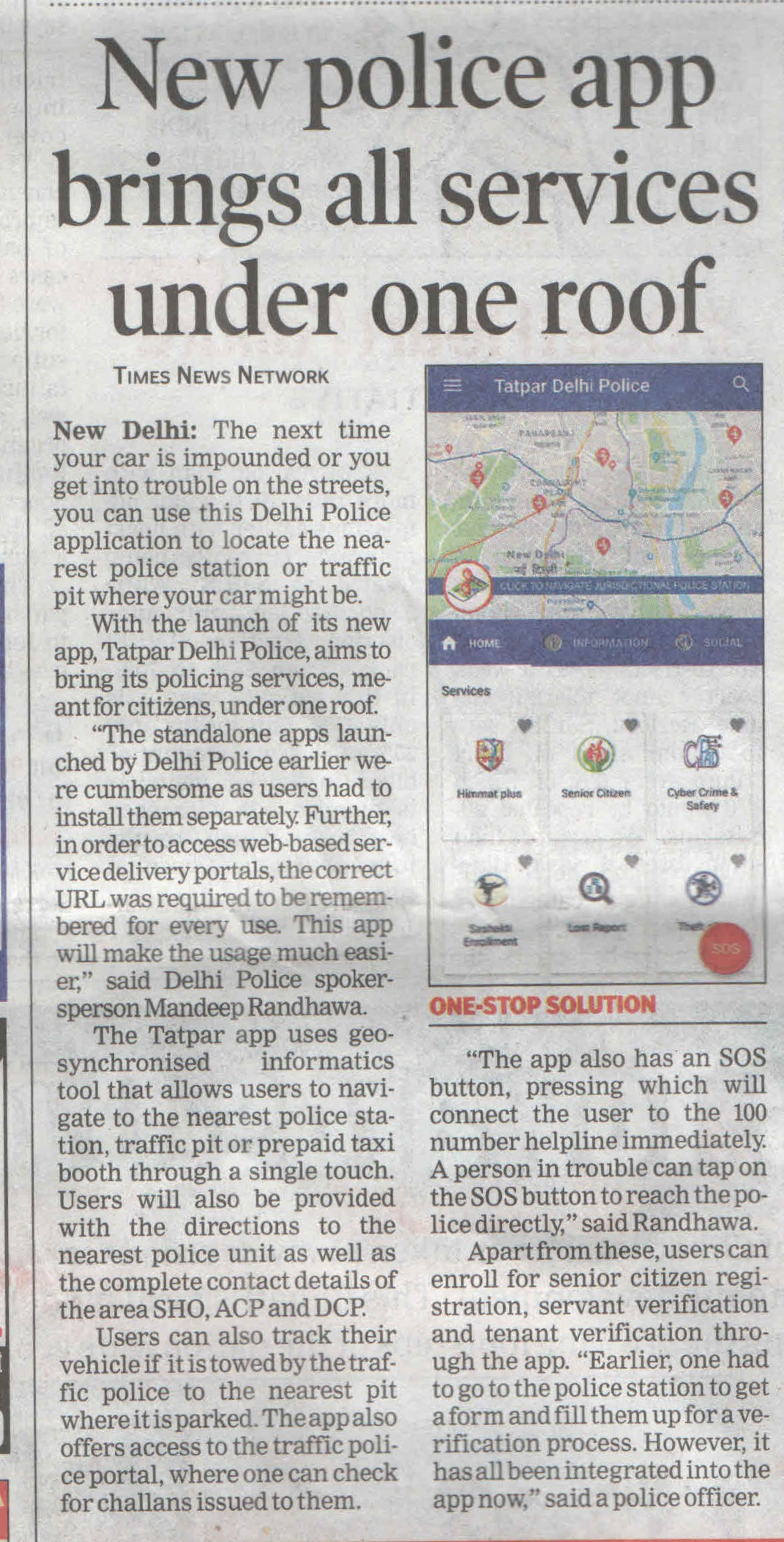 New Police app brings all services under one roof