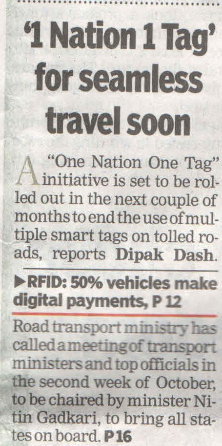 1 National 1 Tag for seamless travel soon