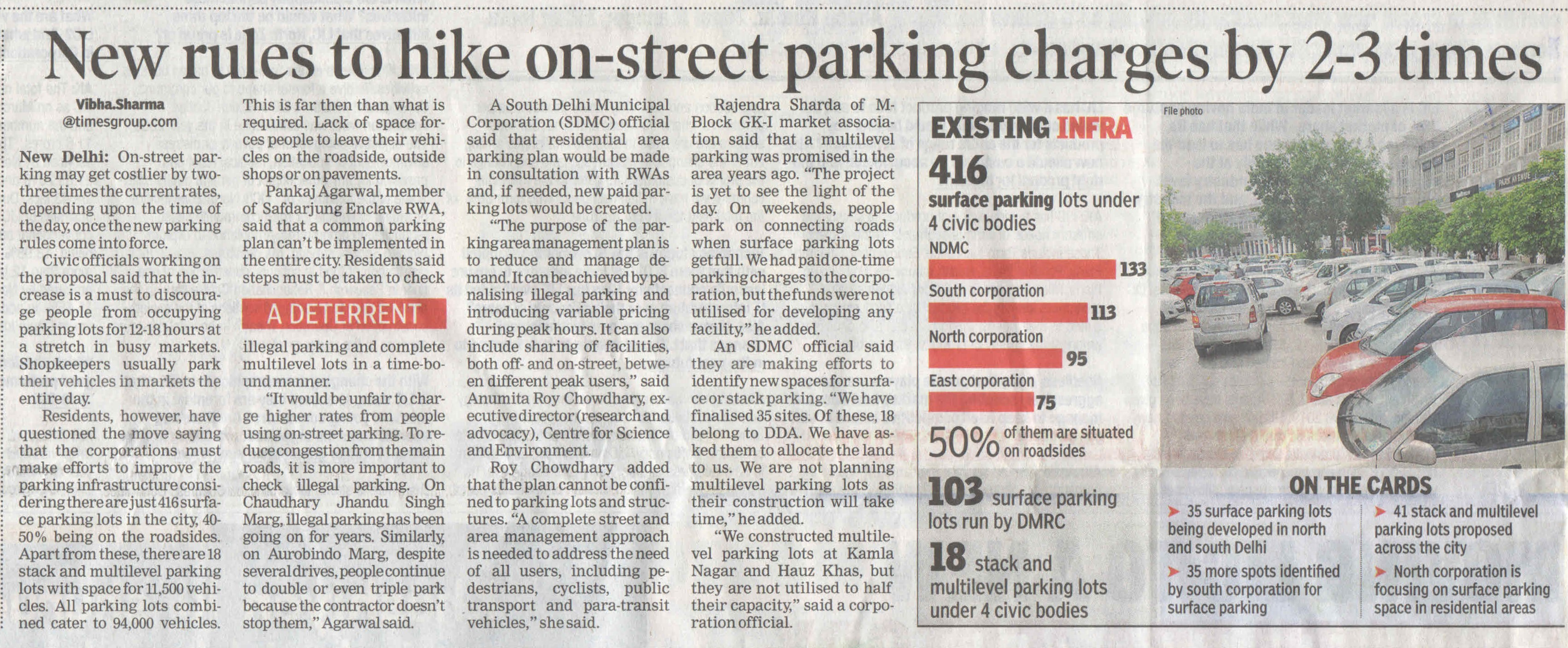 New Rules to hike on street parking charges by 2-3 times