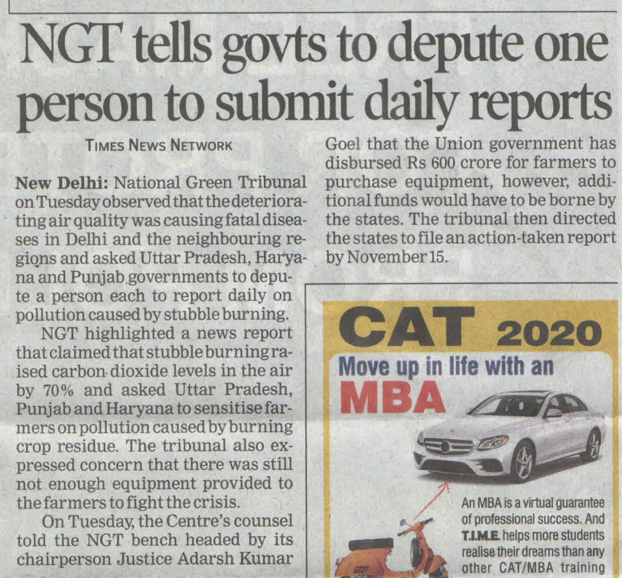 NGT tells govts to depute one person to submit daily reports