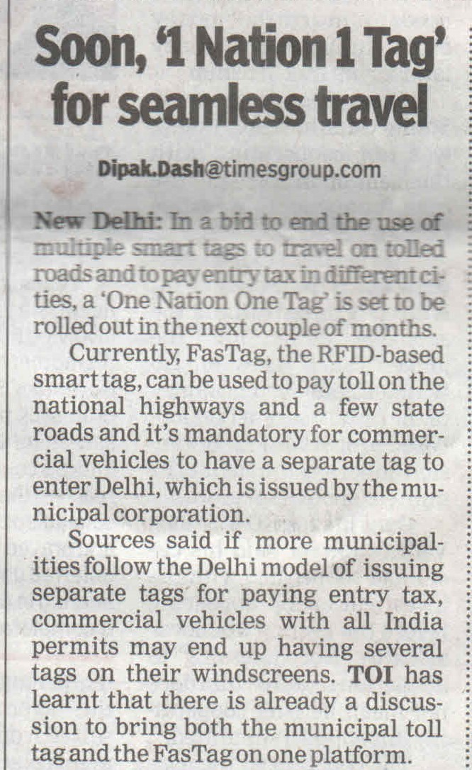 Soon, '1 Nation 1 Tag' for seamless travel